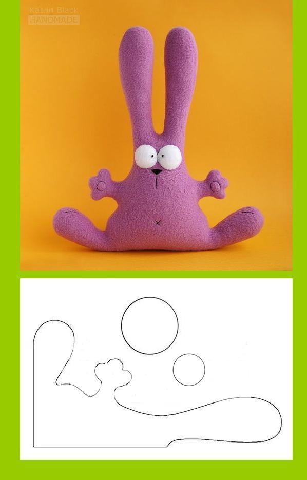 выкройка мягкой игрушки заяц