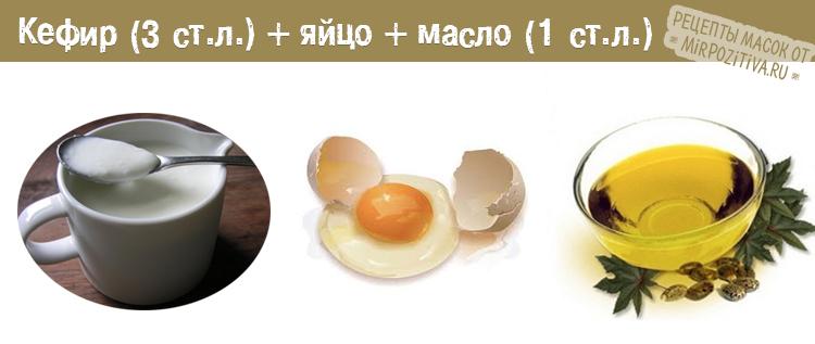 кефир яйцо и масло