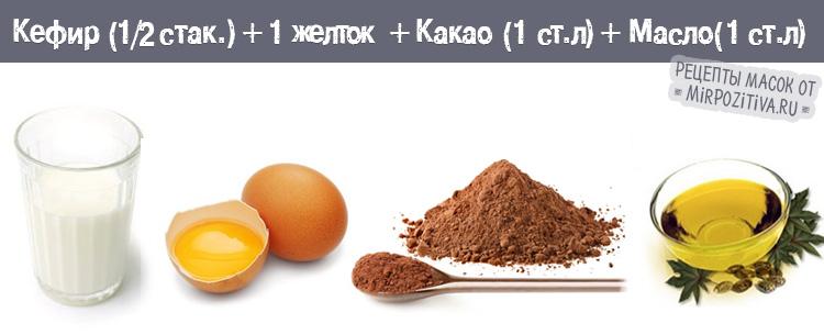 кефир какао желток масло