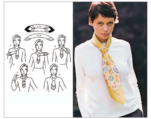 платок завязать галстуком