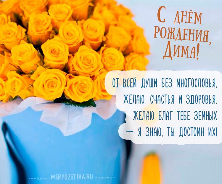 желтые розы для Димы