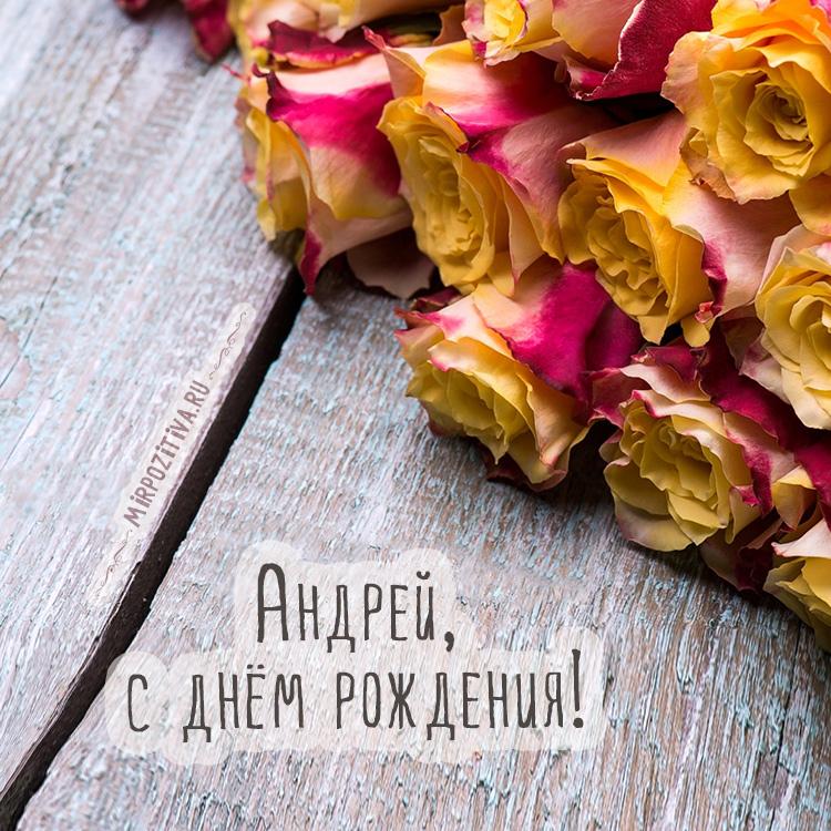 цветы Андрей с днем рождения