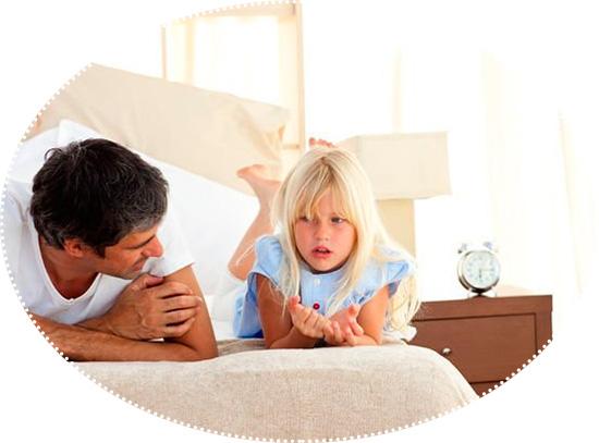 папа и дочка беседуют
