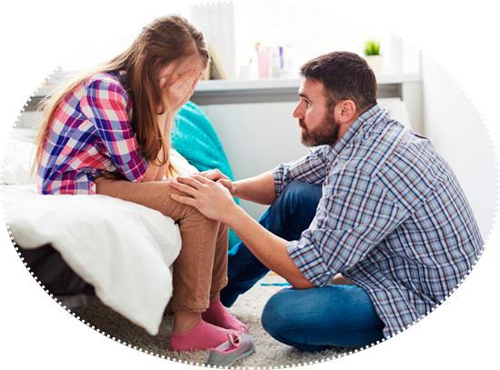 отец просит прощения у дочери