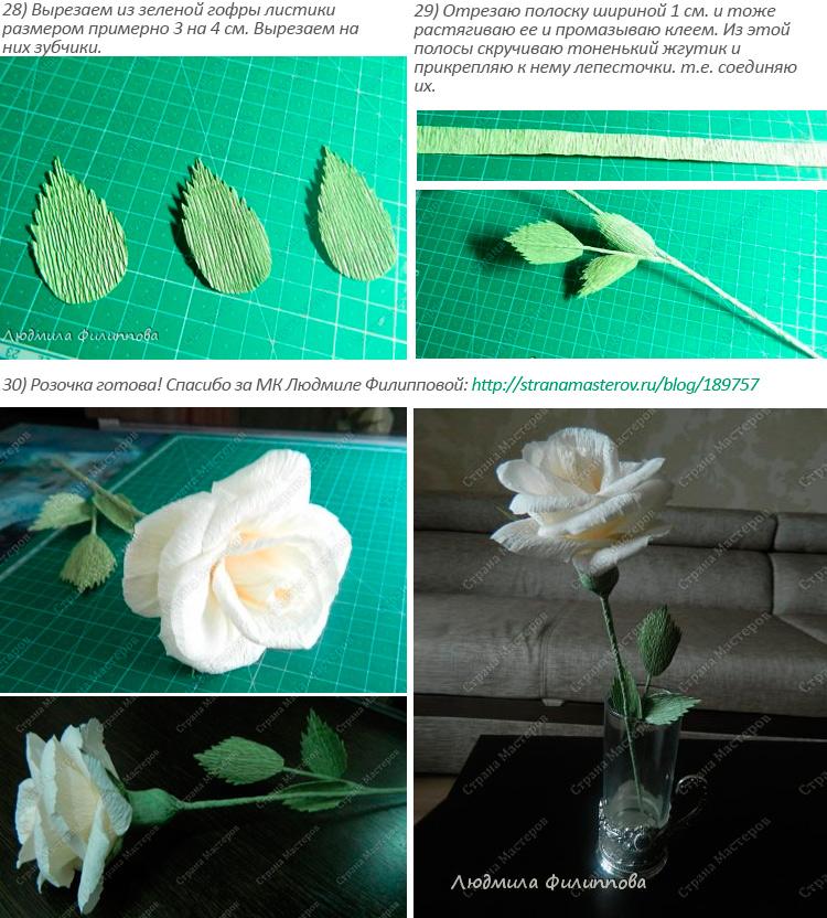делаем лепестки для розы