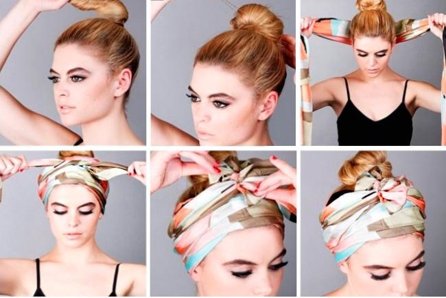 Как правильно и красиво повязывать платок на голову разными способами