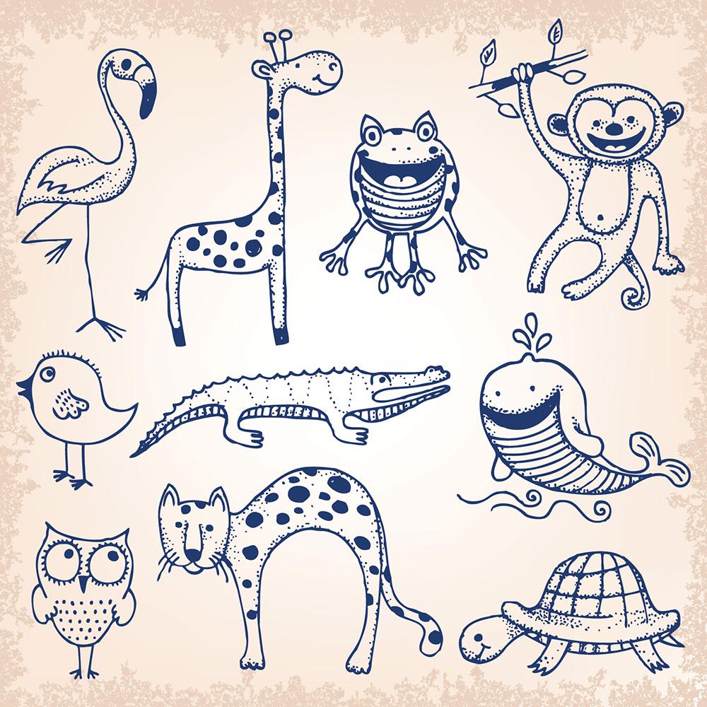 животные рисунки