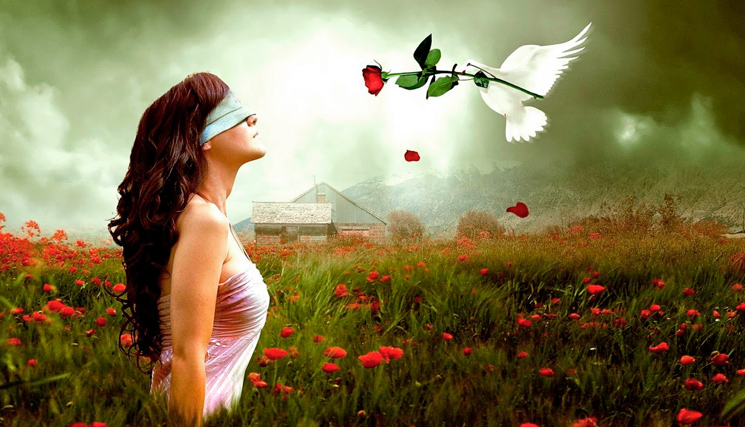 закрыты глаза цветок чувства