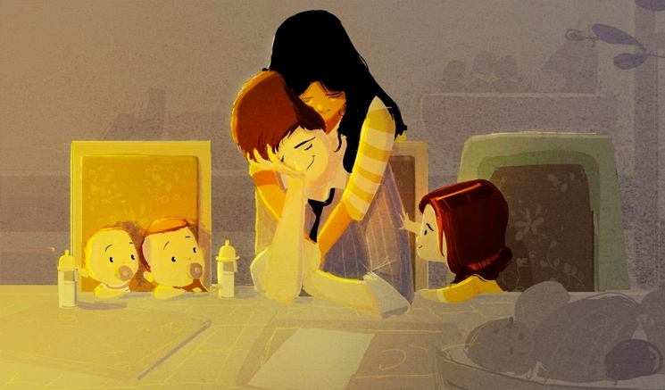 семья иллюстрация