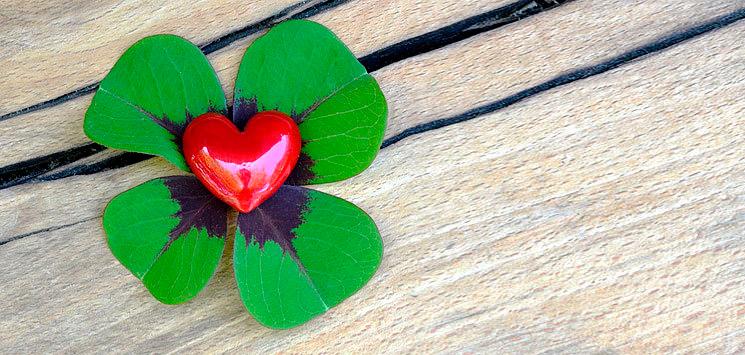 листик удача сердце