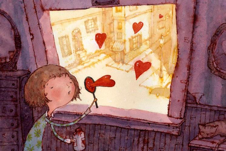 любовь мыльные пузыри сердце