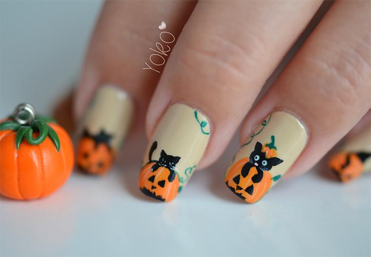 маникюр на хеллоуин