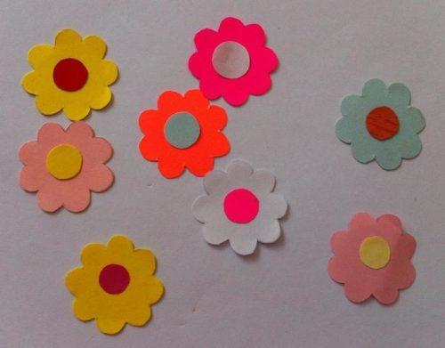 бумажные цветочки