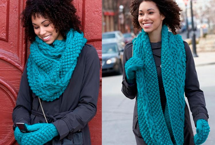 шарф-хомут с пальто