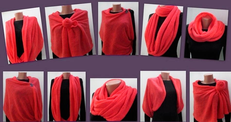 способ носить шарф-хомут или снуд