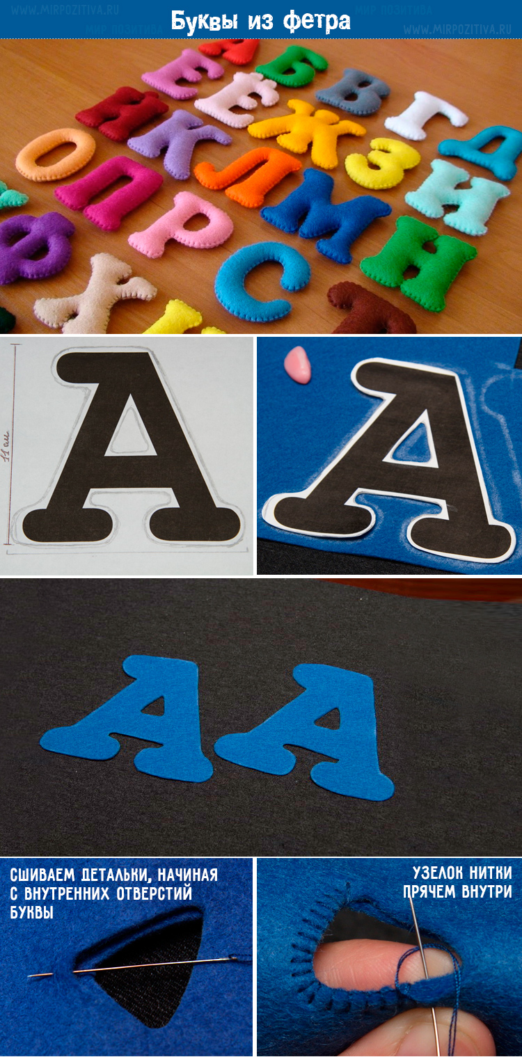 буквы алфавит из фетра пошаговый мастер класс