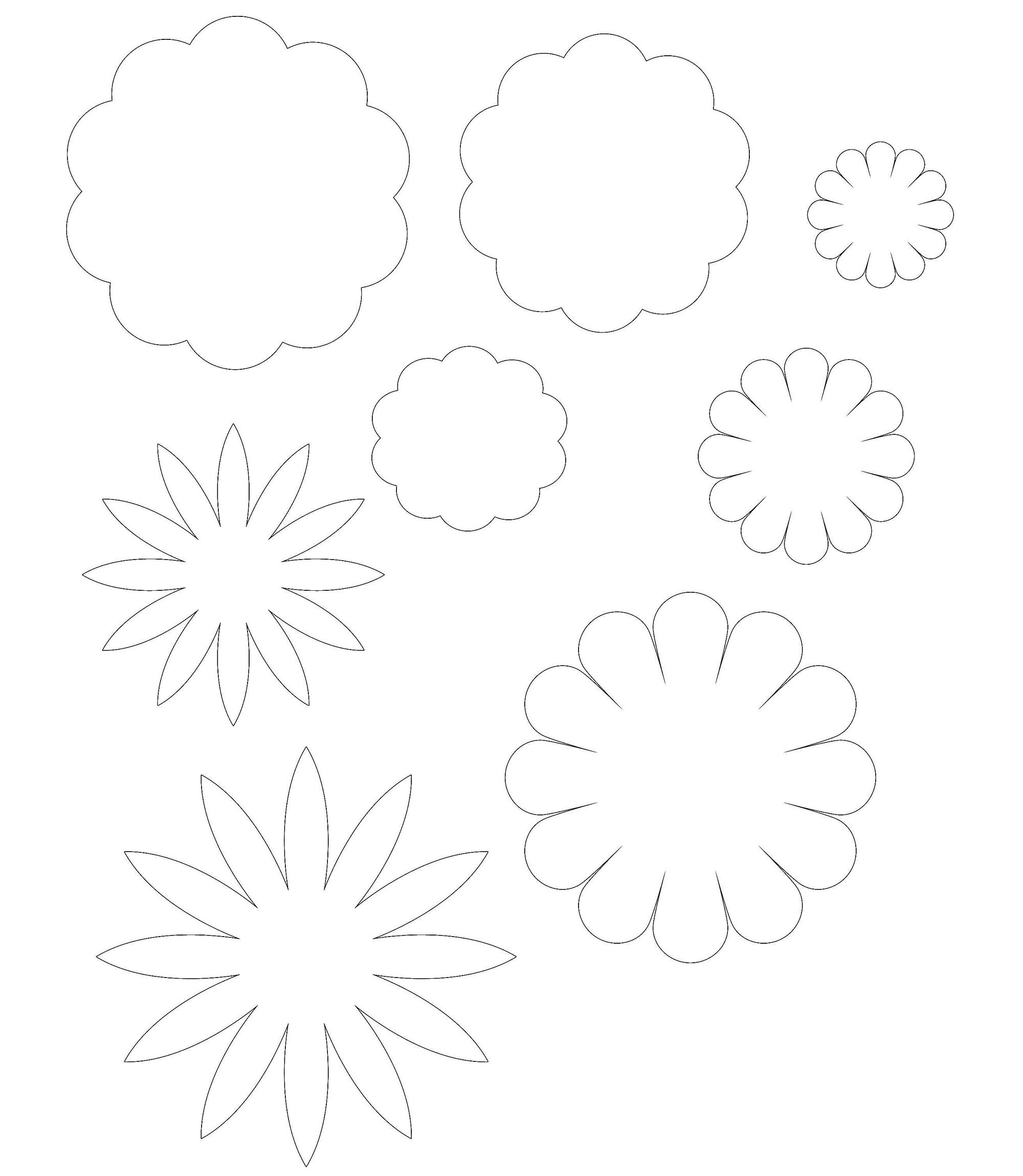 схемка цветки