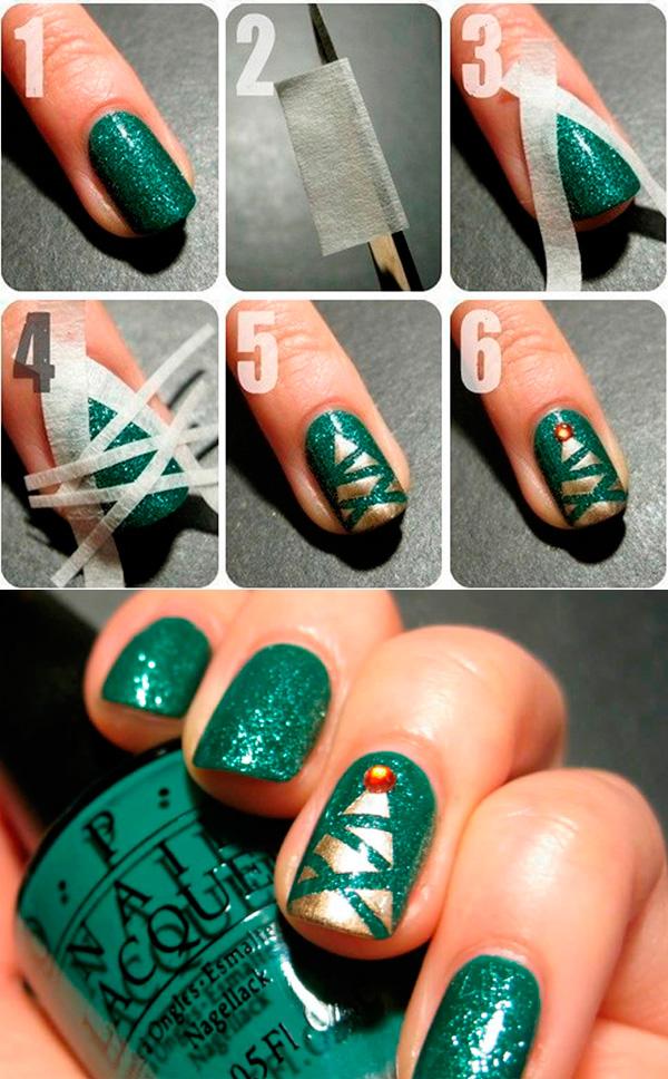 мастер класс новогодний дизайн ногтей