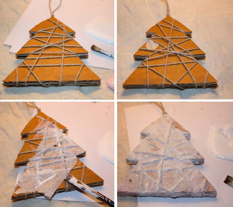 новогоднее украшение из картона мастер класс