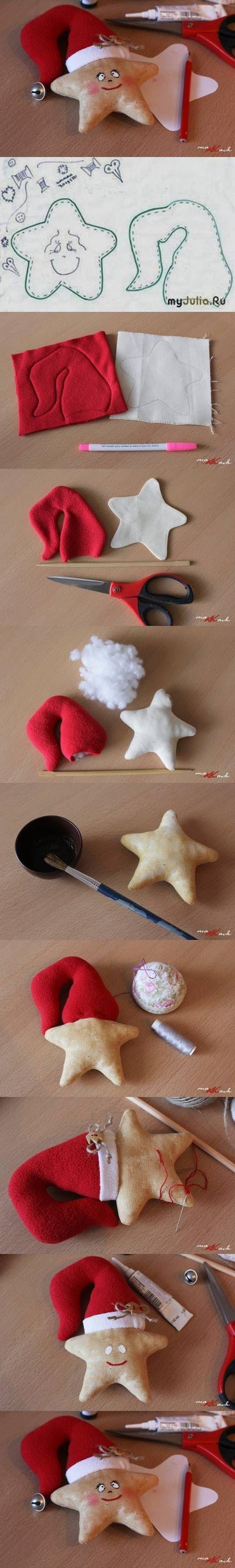 новогодняя игрушка из ткани своими руками