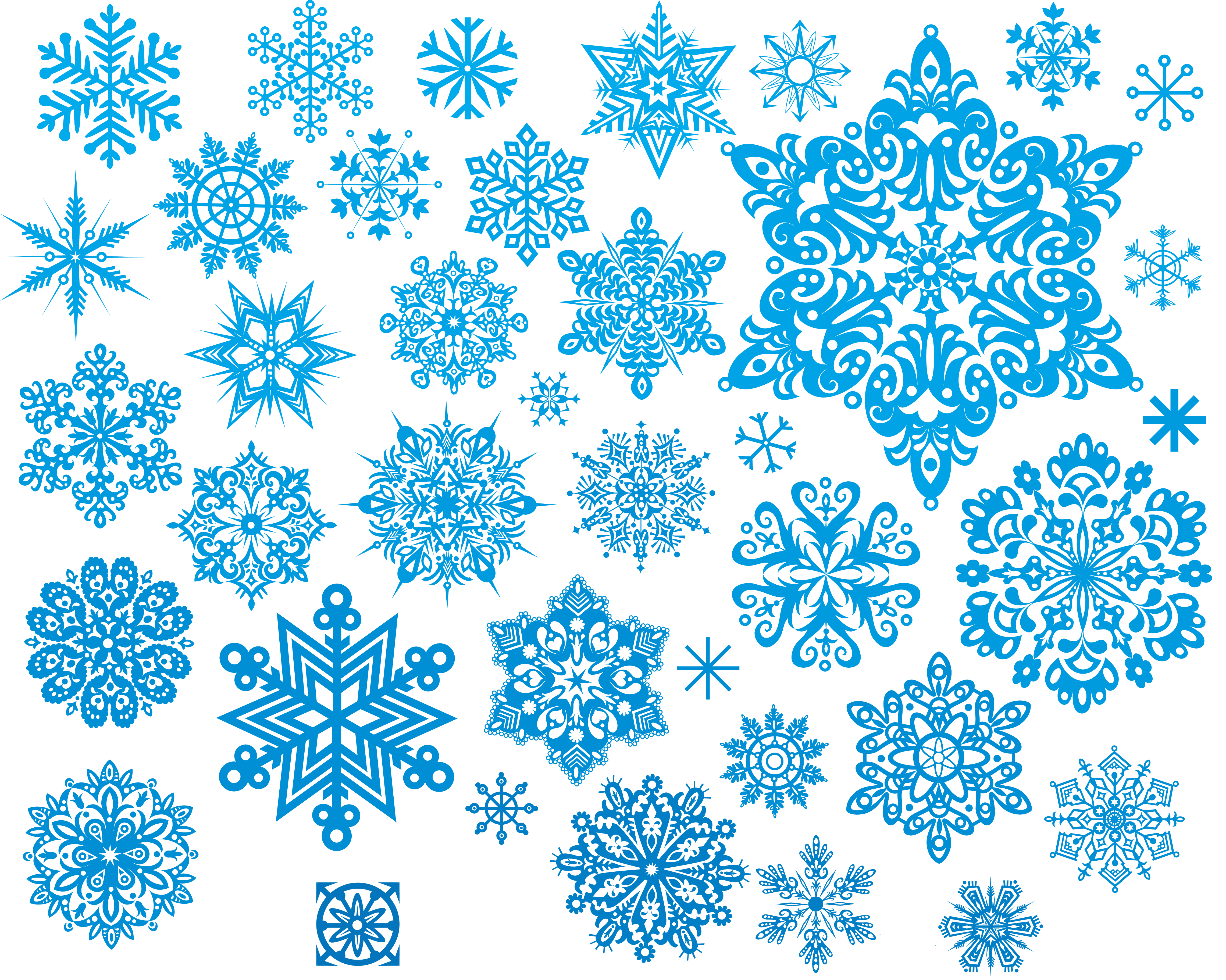 Картинки снежинки разные