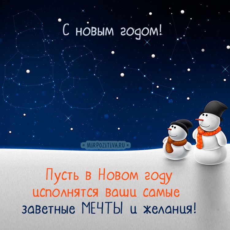 снеговики смотрят в небо