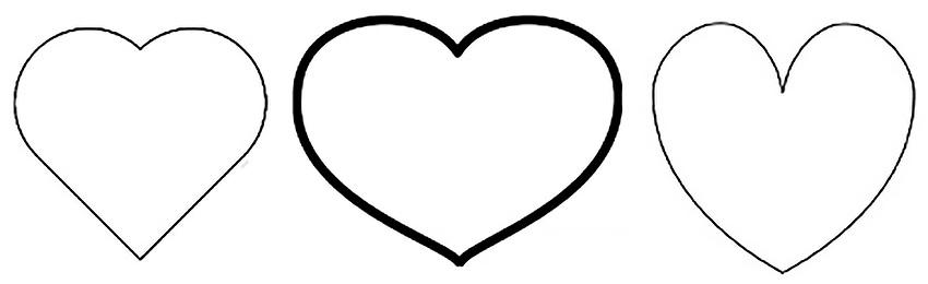 шаблон сердечек