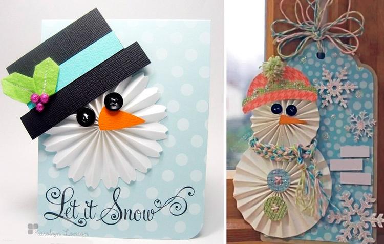 снеговик открытка