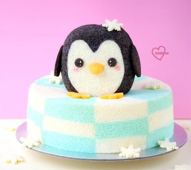 плюшевый торт пингвин