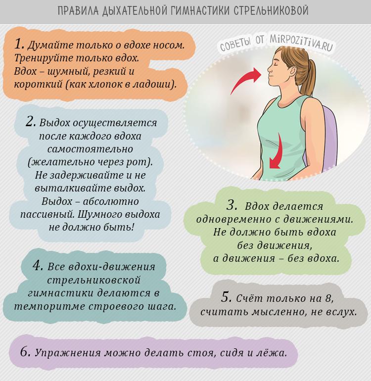 правила дыхательной гимнастики