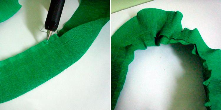 как сделать елочку из гофрированной бумаги