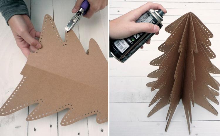елка из картона