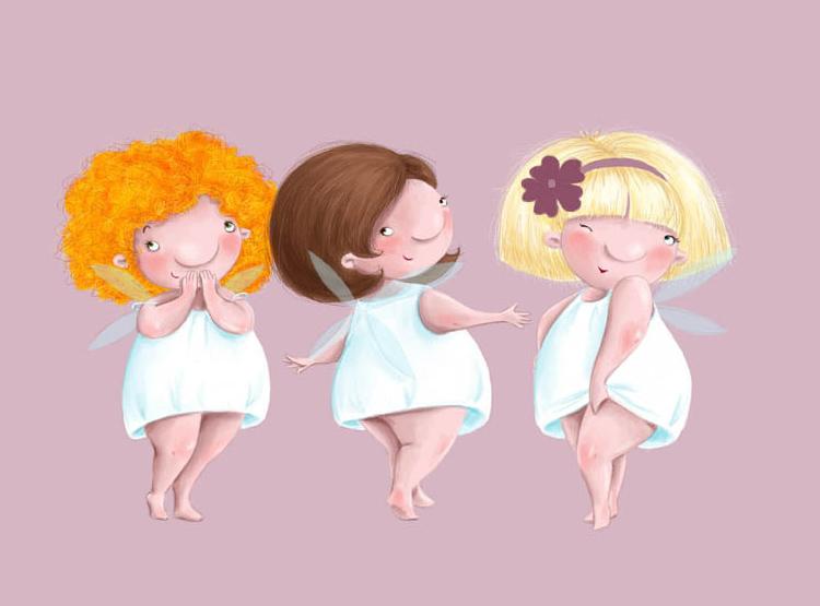 три женщины улыбаются рисунок
