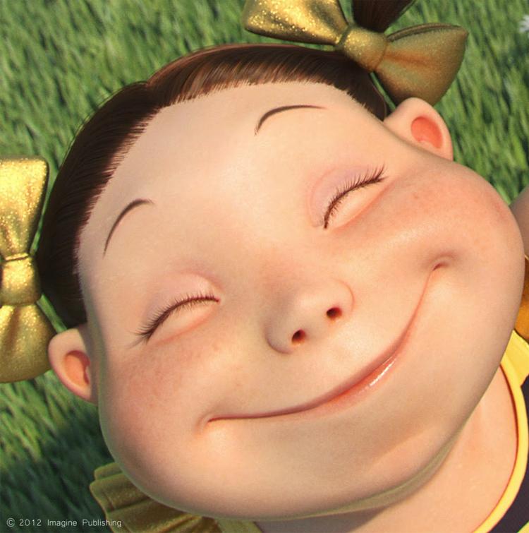 девочка из мультика улыбается