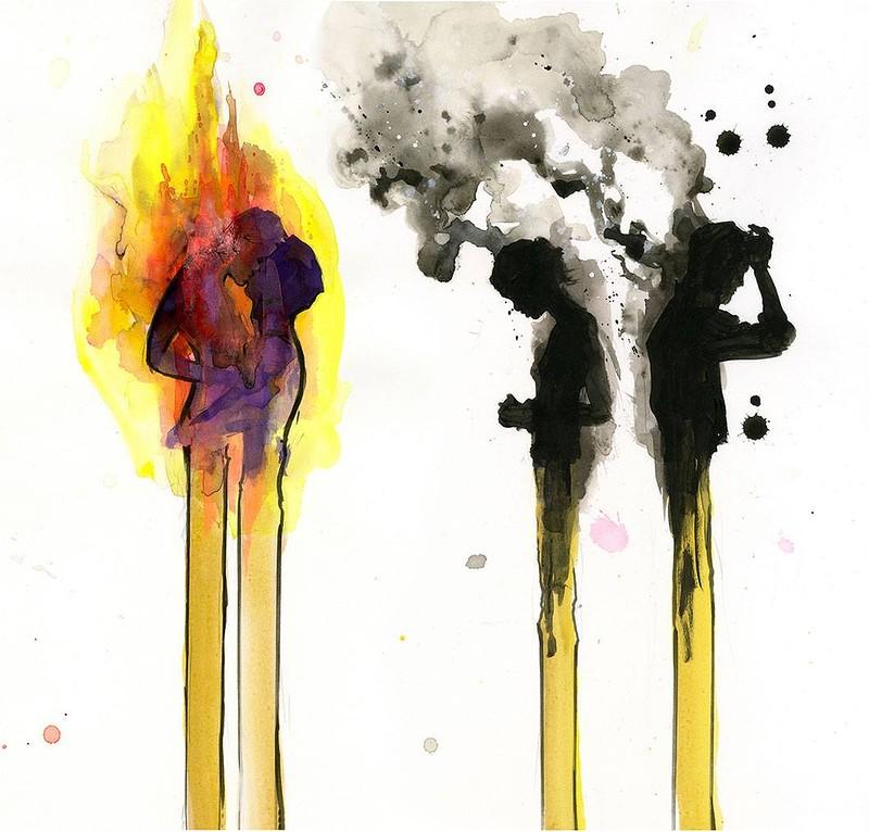 спички люди сгорают горят