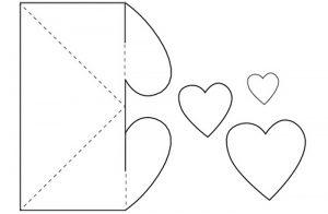 шаблон для сердечка