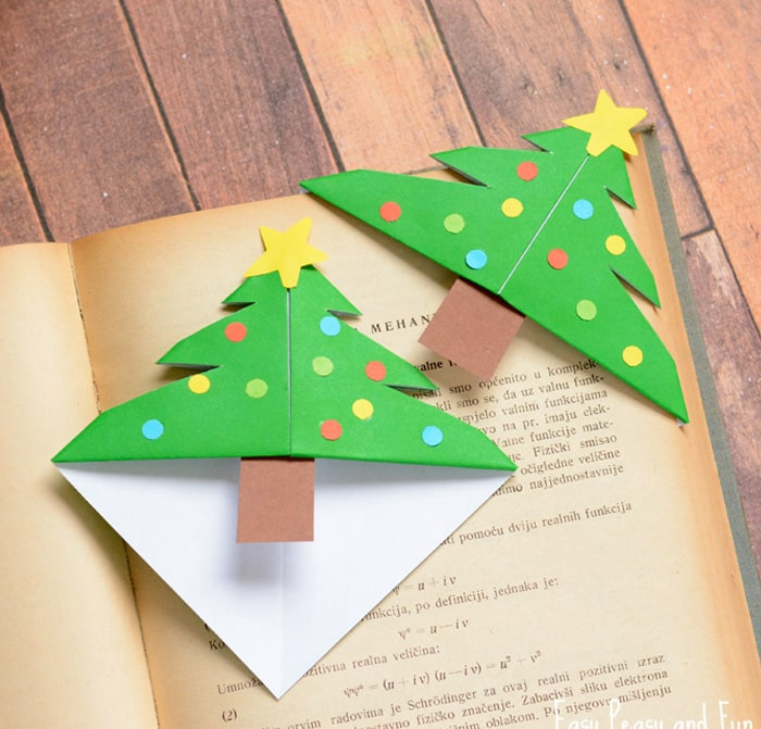 елочка оригами закладочка