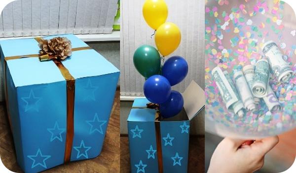 шарики в коробке