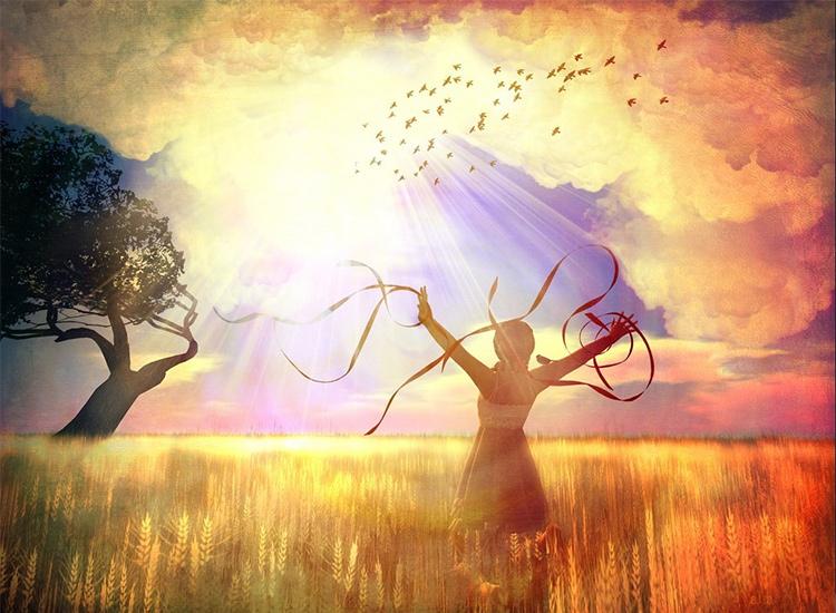 девушка, душа, природа