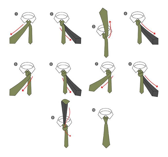 как завязать узкий галстук пошагово фото закройте