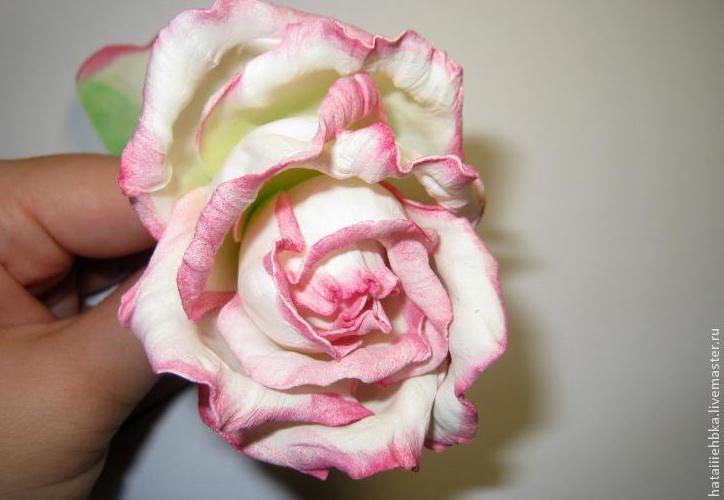 Пошаговые мастер-классы по изготовлению розы из фоамирана