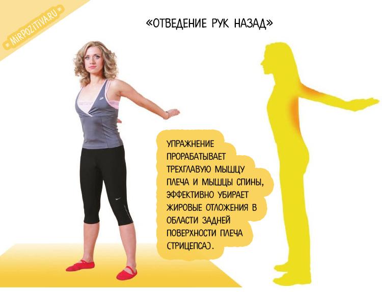 упражнение отведение рук назад с Мариной Корпан