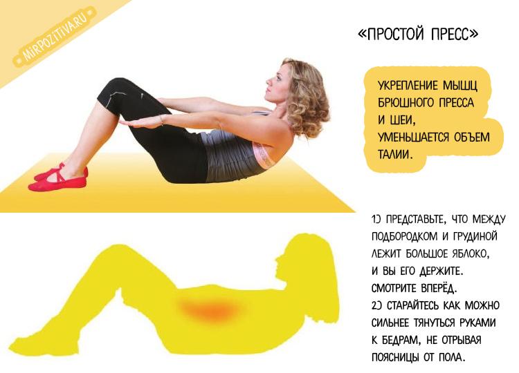 упражнение простой пресс с Мариной Корпан
