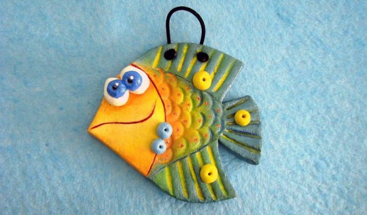 рыбка из теста