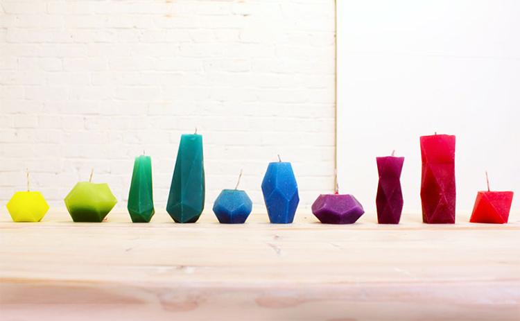 свечи оригинальной геометрической формы