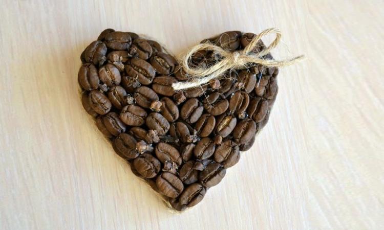 сердце кофейное