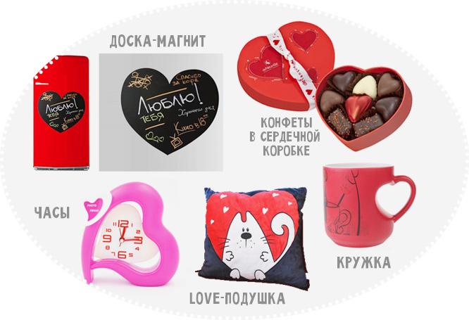 варианты сердечных подарков