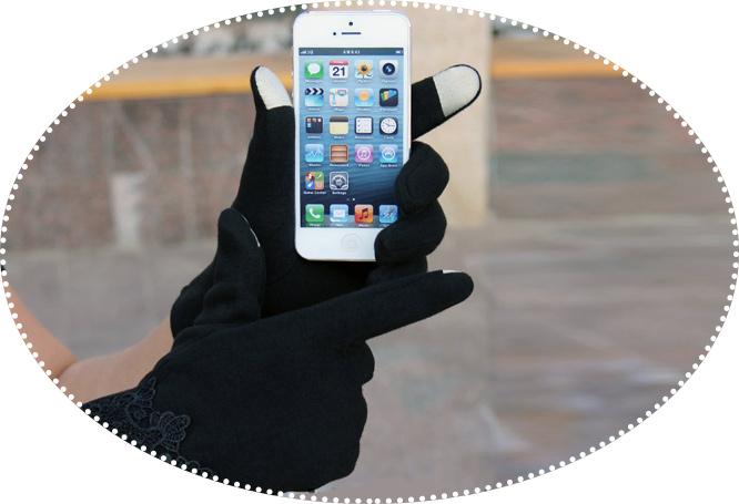 перчатки для сотового телефона