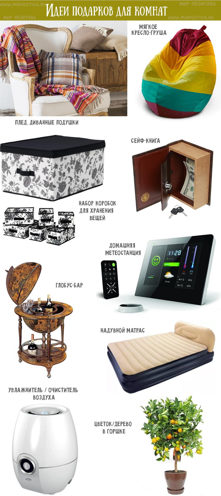 идеи подарков для комнат
