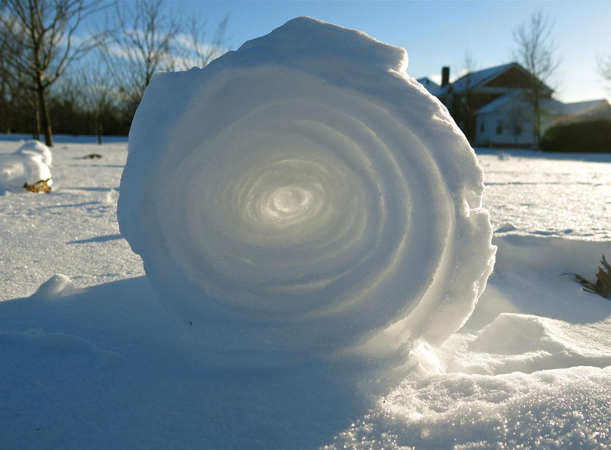 снежный рулет
